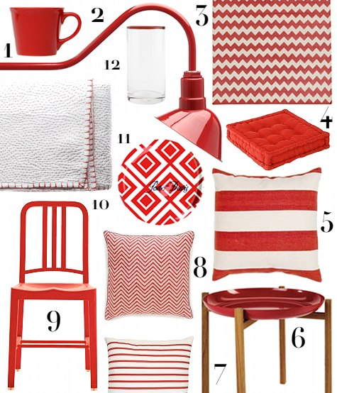 Sources 1 Scalloped Red Mug 6 95 2 Barn Lamp 285 3 Zig Zag Rug 275 I Have This And Love It 4 Corduroy Floor Pillow 28 5 Versa By
