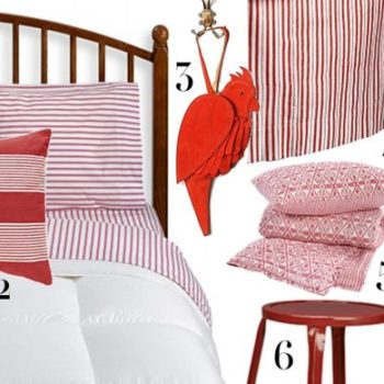 finishing touches: my red + white bedroom