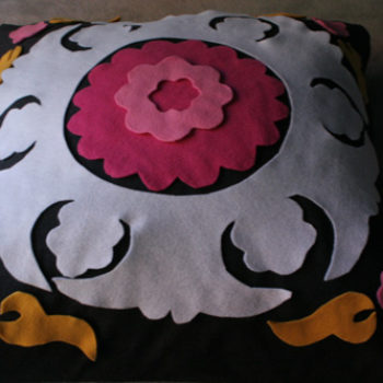 diy project: samantha's faux-suzani pillow how-to