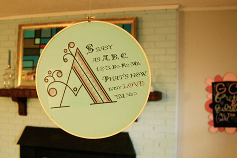 Diy Project Faux Embroidery Quote Hoops Designsponge