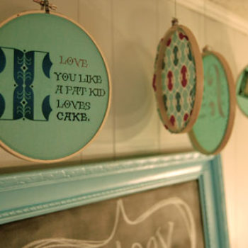 diy project: faux-embroidery quote hoops