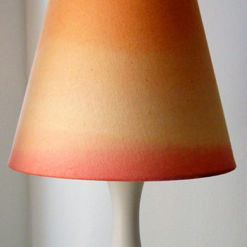 diy project: dip-dye lamp & pillow