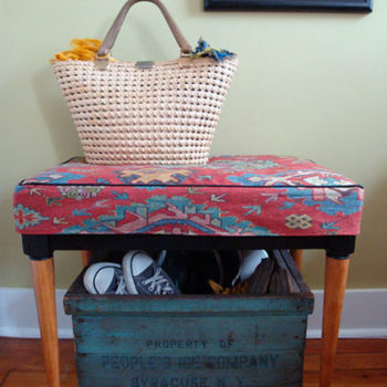 before & after: betsy's chair + caroline's bench