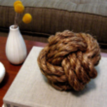 diy project: sailor's knot doorstop & paperweight