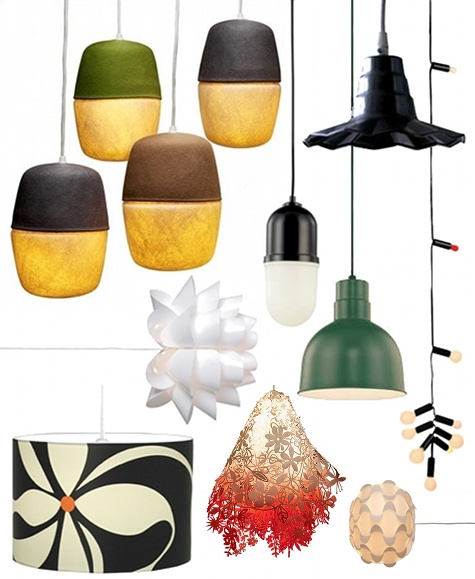 Under Pendant Lamps DesignSponge - Affordable pendant lighting