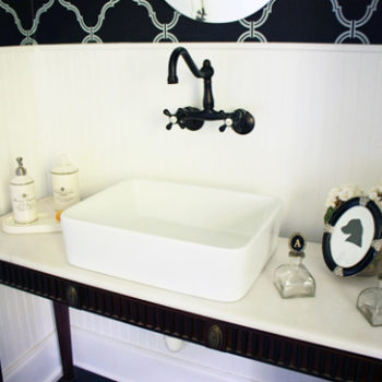 before & after: andrea's elegant bathroom makeover