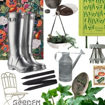 writer's and gardening cabins: decorated