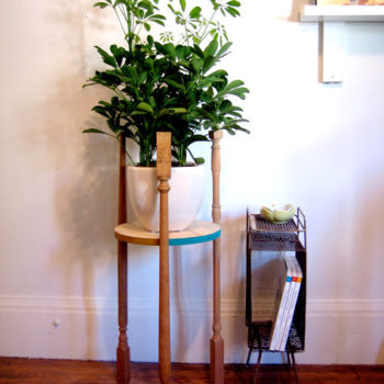 diy project: stair baluster plant stand