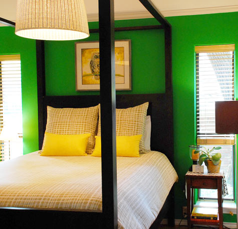 Image Above I Love The Bright Green Walls In Joslyn Taylor S Bedroom