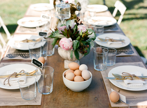 Beyond the big day a french country celebration design sponge - French country table centerpieces ...