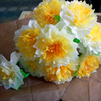 diy project: peaches' coffee filter flowers