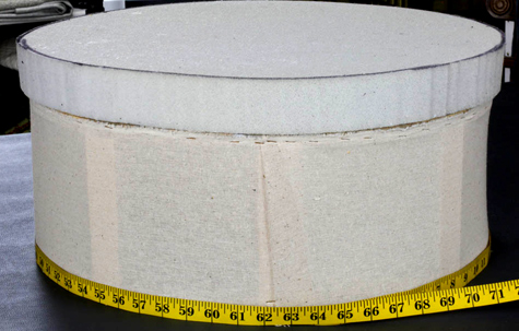 Diy Project Shelly's Salvaged Spool Ottoman DesignSponge Simple How To Make A Round Pouf Ottoman