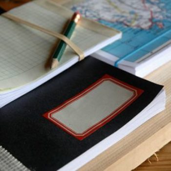 diy project: recycled scrap paper notebooks