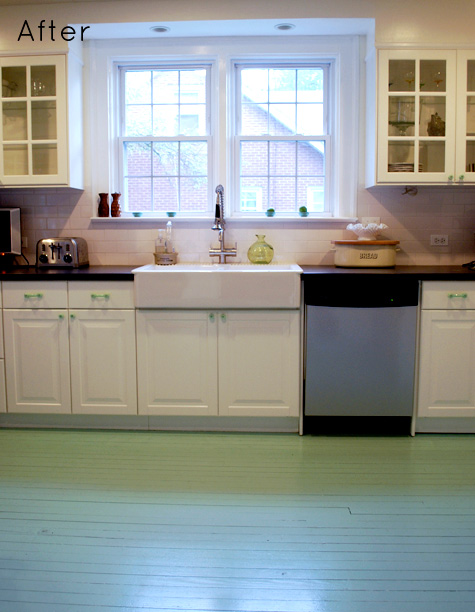 before & after: camila's kitchen floor + andrew's remodel – design Kitchen Flooring near Me
