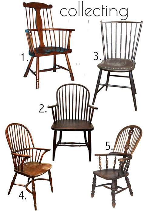 While you're unlikely to actually start collecting Windsor chairs ... - Past & Present: Windsor Chair History + Resources – Design*Sponge