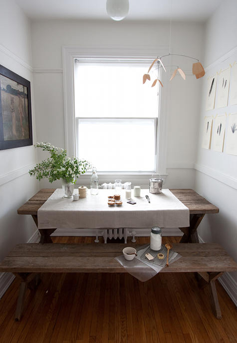 Image Above An Indoor Picnic Table In Nikole S Home