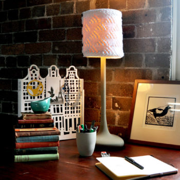 diy project: polli knitters' cozy lamp shade