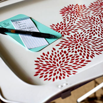 diy project: ashley's floral tray table