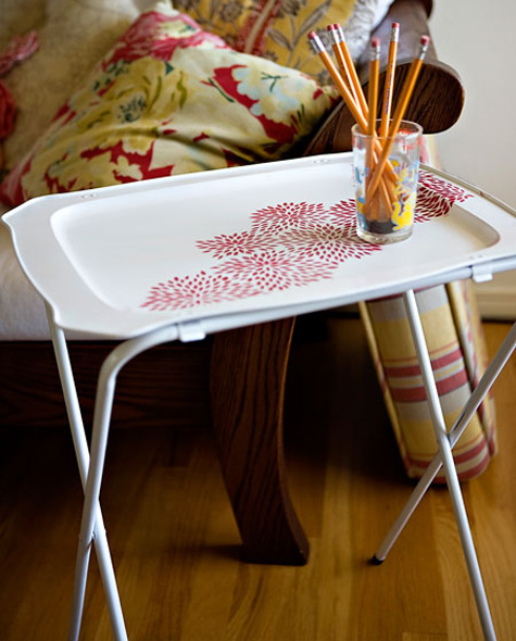 diy project: ashley's floral tray table - Design*Sponge