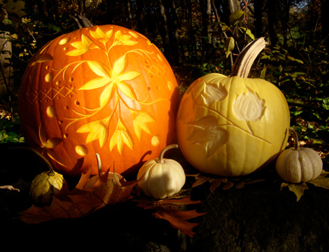 Diy Project Janices Illustrated Carved Pumpkins Designsponge