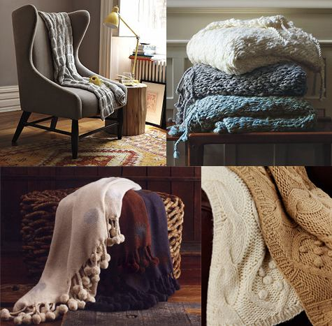Image Above Organic Ruched Throw 69 Hand Knit 59 Bobble 79 Pom 50