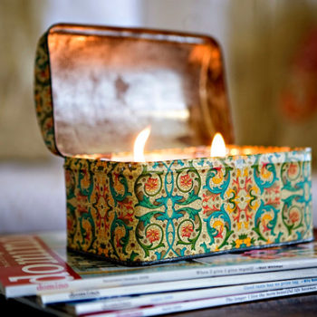 diy project: ashley's vintage tin candles