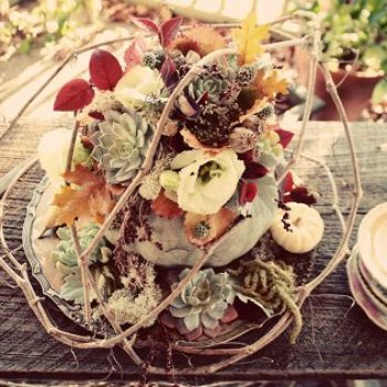 happy thanksgiving + floral centerpiece: love 'n fresh