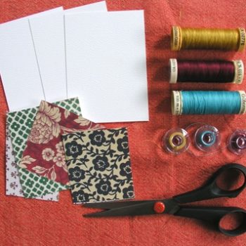 sewing 101: paper-stitched place cards