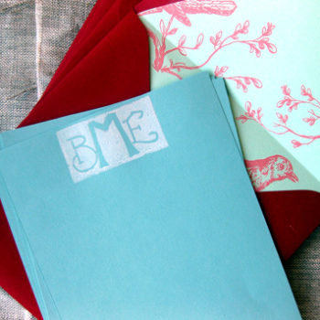 diy project: monogram stationery set