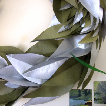 diy project: paper leaves wreath