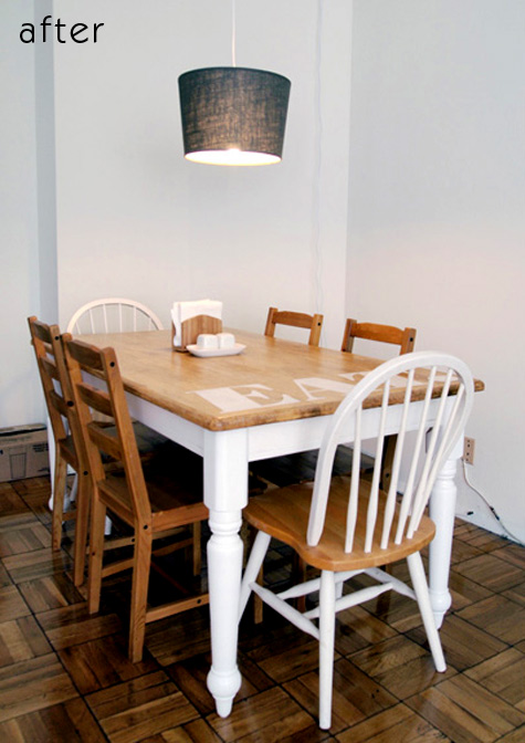 eat in kitchen furniture before amp after brad s kitchen tables design sponge 17446
