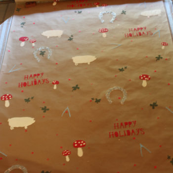 diy project: handmade gift wrap