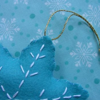 sewing 101: cookie cutter ornaments