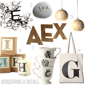 2010 gift guides: monogram gifts