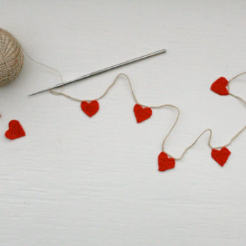 diy project: molly's crochet heart garland