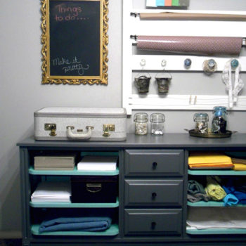 before & after: jessica's craft station + jason's tin can(dle)