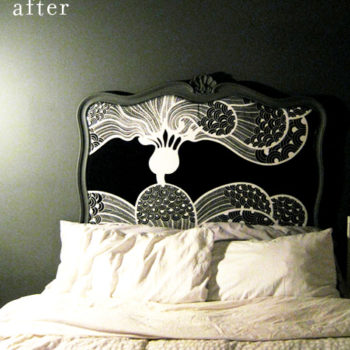 before & after: susie's chair + nadine's headboard