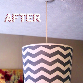 before & after: sarah's side tables + sara's pendant lamp