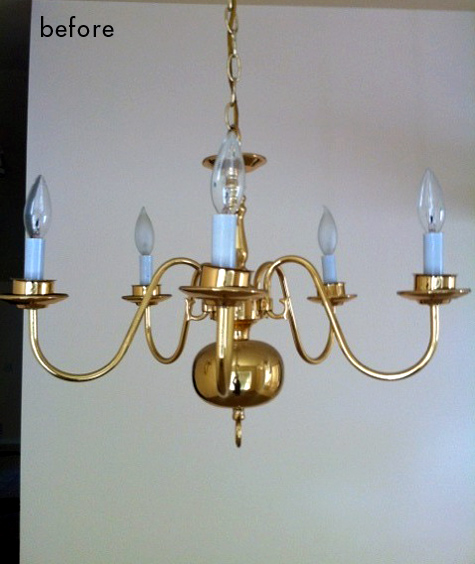 Before after ceciles kitchen tammies chandelier designsponge this chandelier makeover aloadofball Images