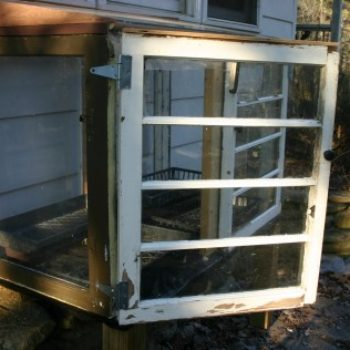 small measures with ashley: old window cold frame