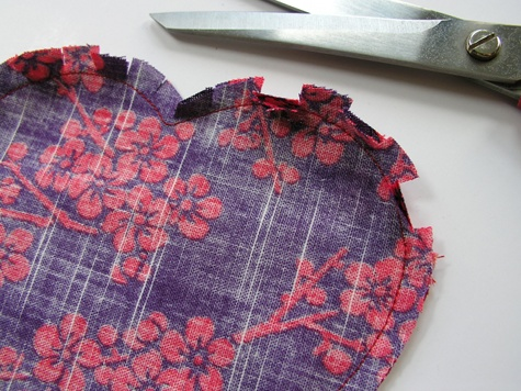 Snip The Fabric In Seam Allowance Every 1 2 Or So Around All Curved Edges Of Heart Then Trim To