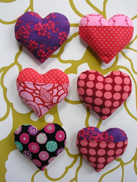 Sewing 101 Stuffed Hearts
