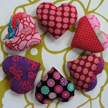 sewing 101: stuffed hearts