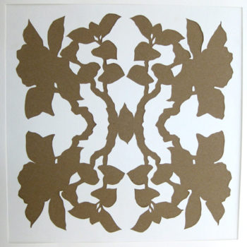 diy project: botanical silhouette paper art