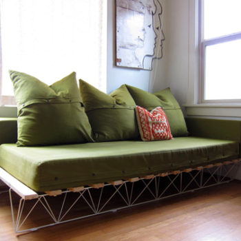 diy project: genevieve's platform sofa