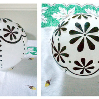 before & after: jennifer's hutch + ceiling lamp