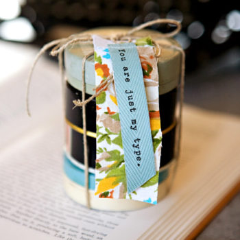 diy project: vintage typewriter tin valentine