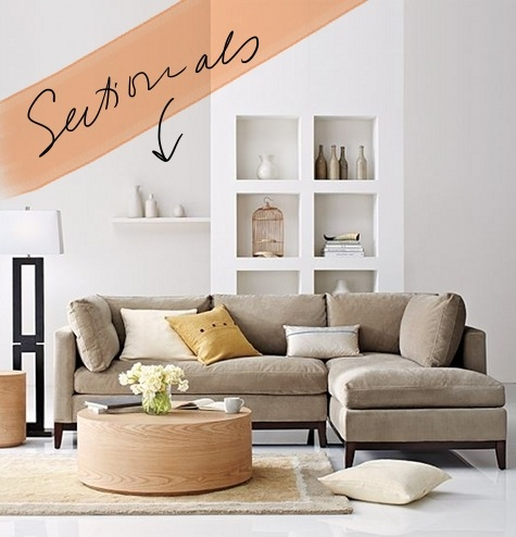 One ... & our new apt: the hunt for the perfect sectional \u2013 Design*Sponge