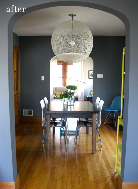 Before Amp After Living Room Reno A Bright Dining Room