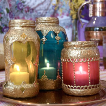 diy project: katie's glass-jar moroccan lanterns